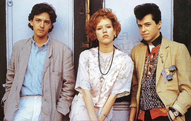 Film: Pretty in Pink (1986), Starring Andrew McCarthy as Blane McDonnagh, Molly Ringwald as Andie Walsh and Jon Cryer as Duckie (Phil Dale).