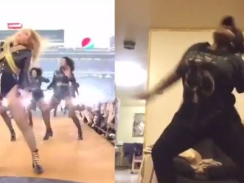 You've been fooled into thinking Beyonce fell at the Super Bowl 50, this fan says