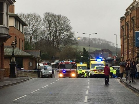 Woman dies after car ploughs into several people in Guildford town centre