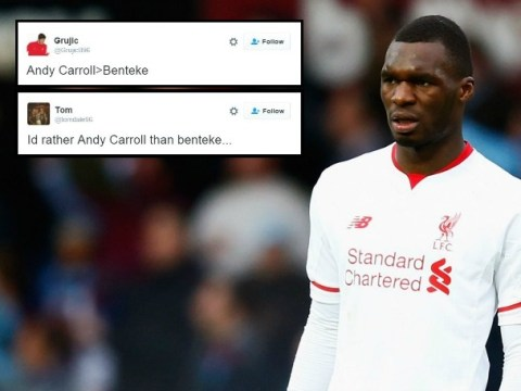 Liverpool fans say Andy Carroll is better than Christian Benteke during West Ham match