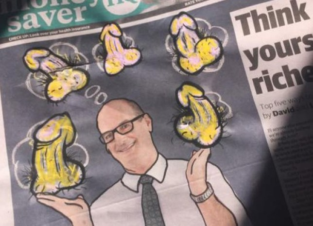 drawing dicks on the herald sun