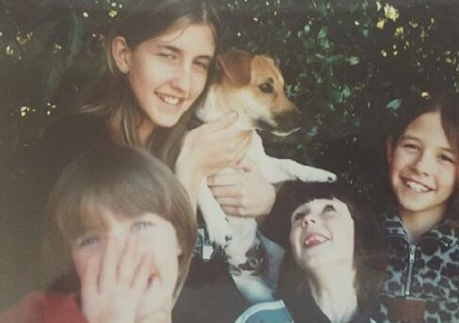 family recreates old photo