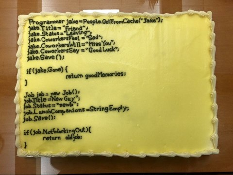 Man leaves for new job, so colleagues get creative with brilliant cake