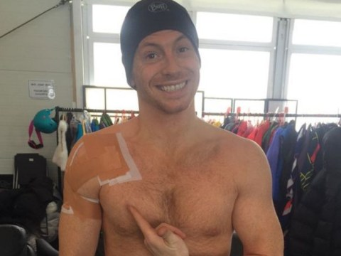 Joe Swash breaks bone in shoulder on The Jump after being drafted in as replacement