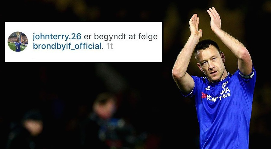 Chelsea captain John Terry sparks transfer speculation after liking Brondby on Instagram