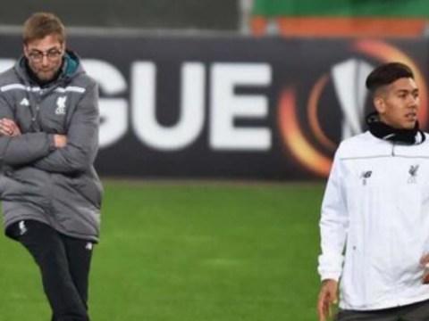Jurgen Klopp annoys Roberto Firmino by nutmegging him in training