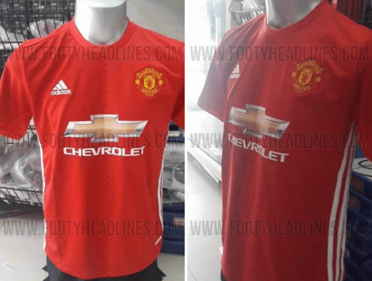 new product 95b6f 68111 Manchester United News: Possible 2016/17 Adidas kit leaked ...