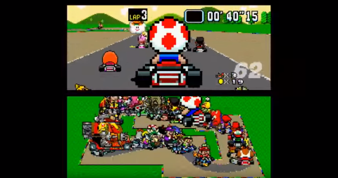WATCH: This is what would happen if 101 gamers played Super Mario Kart at once