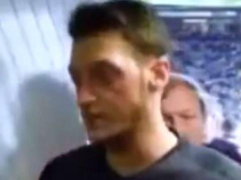 Arsenal star Mesut Ozil caught calling Norwich defenders f**king sh*t