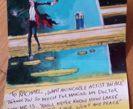 Peter Capaldi sends fanmail to Doctor Who comic artist and shows us why he's the BEST