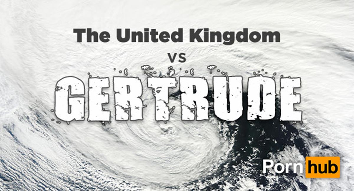 People did a whole lot of wanking during Storm Gertrude, Pornhub reveals Credit: Porn Hub