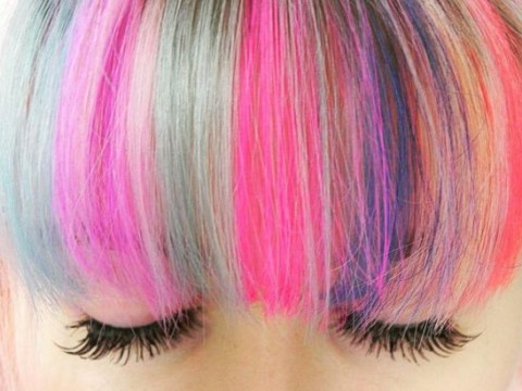 Rainbow fringes are the latest way to jazz up your hair