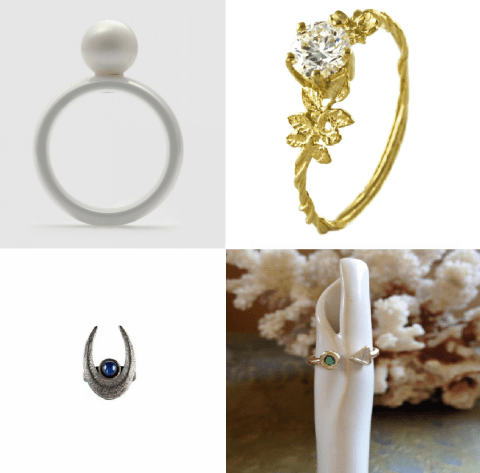 10 alternative engagement rings for the non-conventional bride