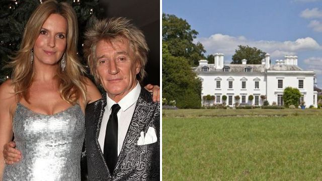 Oh how the other half live: Rod Stewart's £4.65million country mansion has 10 bedrooms and a football pitch
