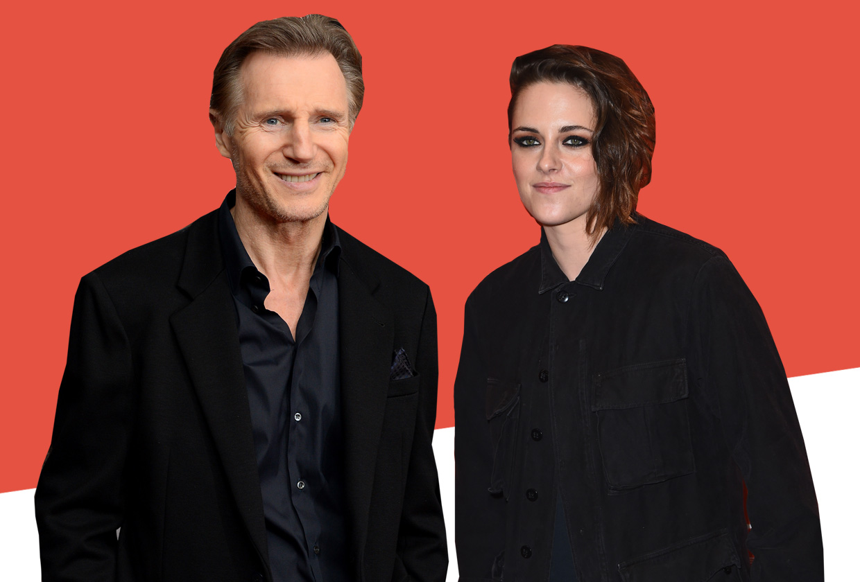 Here's what Liam Neeson had to say about those rumours he's dating Kristen Stewart