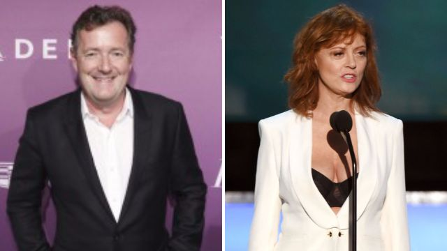 Susan Sarandon Piers Morgan split