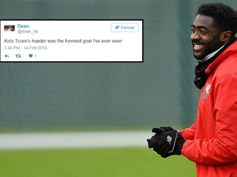 Twitter goes into meltdown after Kolo Toure scores his first ever Liverpool goal