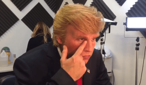 Watch: Johnny Depp peeling off Donald Trump's face will give you nightmares
