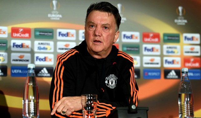during a press conference ahead of the UEFA Europa League Round of 32 match between FC Midtjylland and Manchester United at Herning MCH Multi Arena on February 17, 2016 in Herning, Denmark.