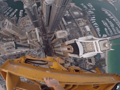 Climber scales world's tallest residential building then posts insane video