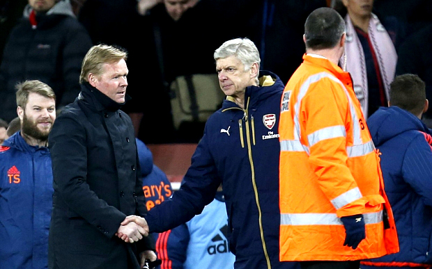 Rumour: Arsene Wenger in furious Arsenal tunnel row with Southampton boss Ronald Koeman