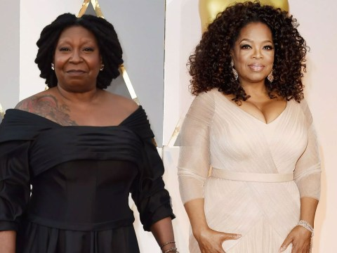 Website is impressed by Oprah's tattoos on the Oscars red carpet… only that's not Oprah