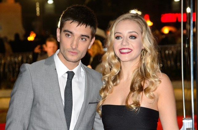 "LONDON, ENGLAND - NOVEMBER 11: (L-R) Tom Parker and Kelsey Hardwick attend the UK Premiere of ""The Hunger Games: Catching Fire"" at Odeon Leicester Square on November 11, 2013 in London, England. (Photo by Dave J Hogan/Getty Images)"