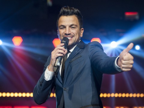 Peter Andre talks stuffing socks down his trousers to enhance his, er, bulge