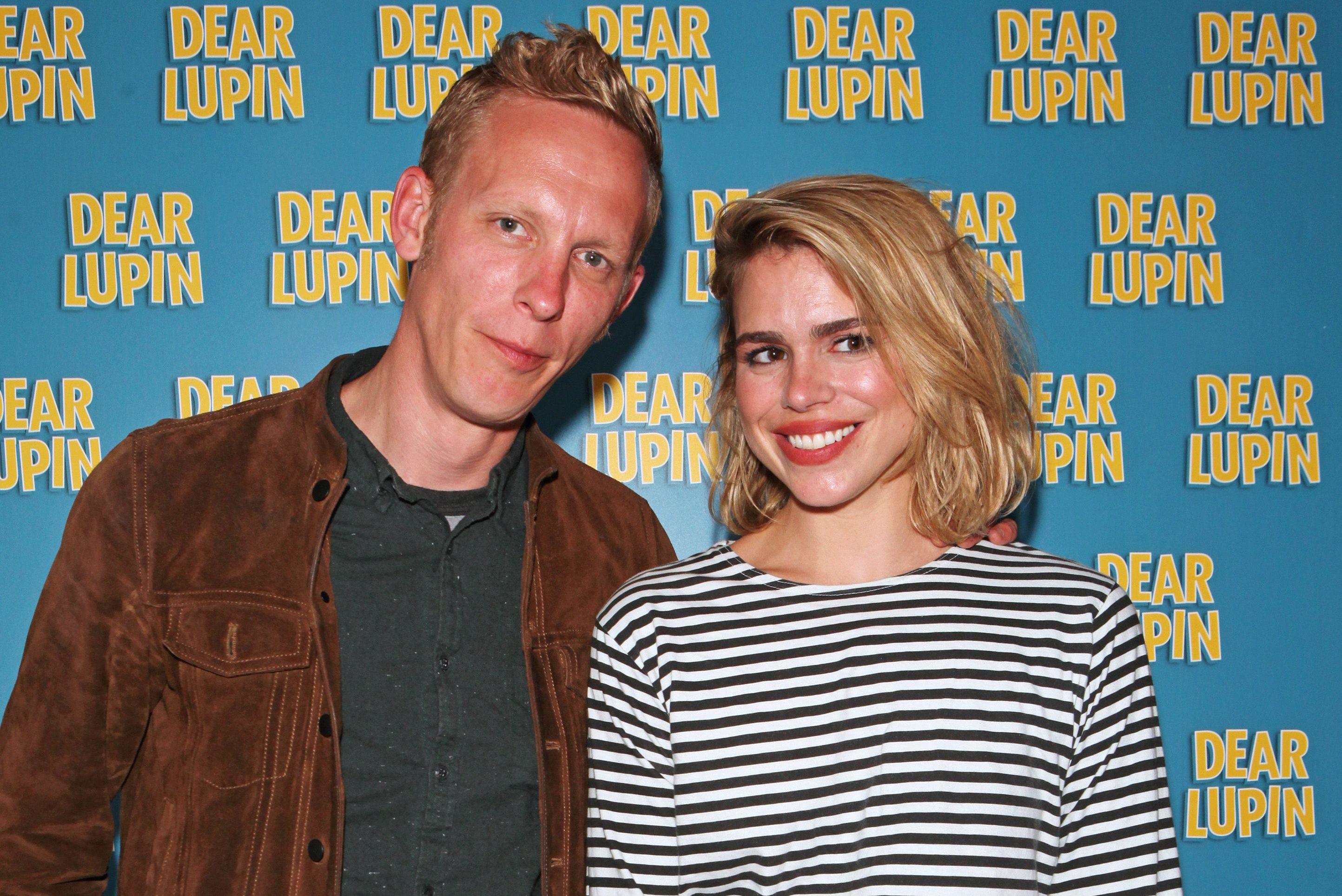 "LONDON, ENGLAND - AUGUST 03: Laurence Fox (L) and Billie Piper attend an after party following the press night performance of ""Dear Lupin"" at the Ham Yard Hotel on August 3, 2015 in London, England. (Photo by David M. Benett/Dave Benett/Getty Images)"