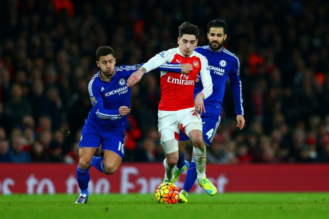 xxxx during the Barclays Premier League match between Arsenal and Chelsea at Emirates Stadium on January 24, 2016 in London, England.
