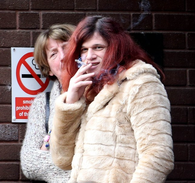File photo dated 05/01/16 of Davina Ayrton outside the Portsmouth Crown Court in Hampshire, where the transgender woman is to be sentenced after being found guilty of raping a teenage girl when she was a man. PRESS ASSOCIATION Photo. Issue date: Friday March 4, 2016. A jury convicted Davina, who changed her name from David three years ago, of the sexual attack on a 15-year-old girl in the autumn of 2004 following a week-long trial in January. See PA story COURTS Transgender. Photo credit should read: Steve Parsons/PA Wire