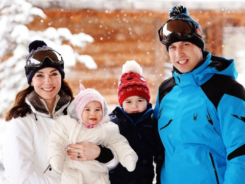 The Duke and Duchess of Cambridge get romantic in the snow on Royal skiing trip