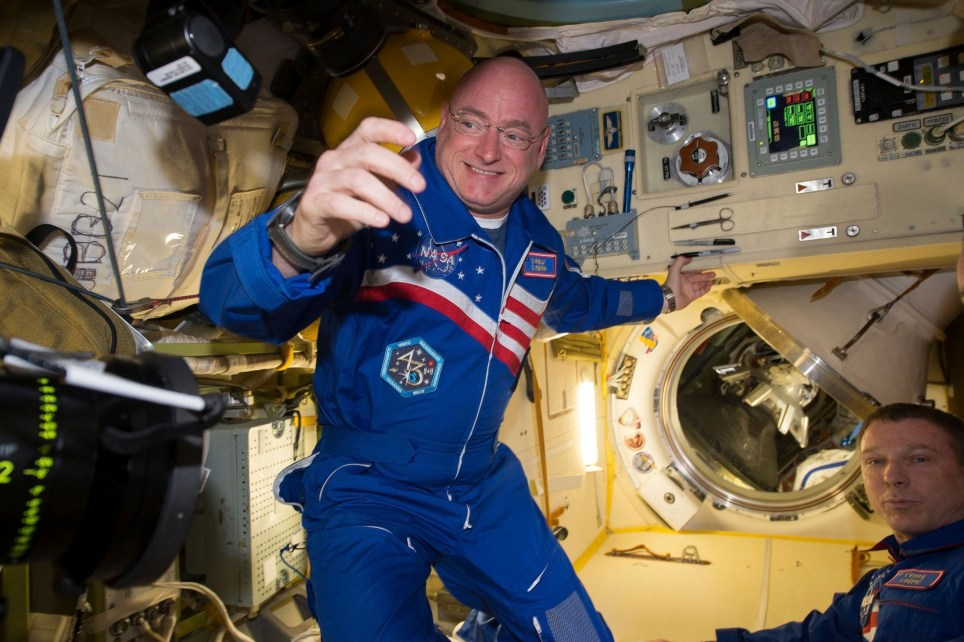NASA astronaut Scott Kelly is shown with flight engineer Sergey Volkov (R) from the International Space Station in this NASA image released on February 29, 2016. NASA astronaut Scott Kelly, who returns on March 2, 2016 after nearly a year aboard the International Space Station, said on Thursday the secret to enduring the longest U.S. spaceflight is marking individual milestones, not ticking days off the calendar. REUTERS/NASA/Handout FOR EDITORIAL USE ONLY. NOT FOR SALE FOR MARKETING OR ADVERTISING CAMPAIGNS. THIS IMAGE HAS BEEN SUPPLIED BY A THIRD PARTY. IT IS DISTRIBUTED, EXACTLY AS RECEIVED BY REUTERS, AS A SERVICE TO CLIENTS