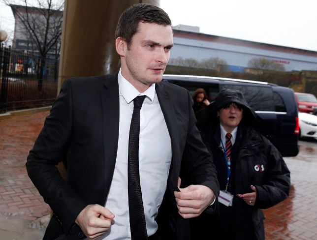 Footballer Adam Johnson arrives at Bradford Crown Court where he is accused of sexual activity with a child. PRESS ASSOCIATION Photo. Picture date: Tuesday March 1, 2016. Johnson has admitted grooming and sexual activity with a child. He denies two further charges of sexual activity with a child. See PA story COURTS Johnson. Photo credit should read: Owen Humphreys/PA Wire