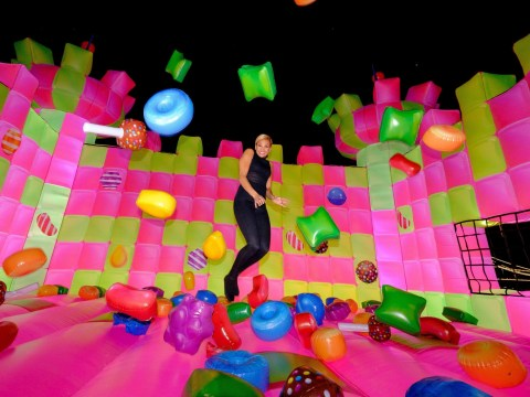 Watch: A giant adult-only bouncy castle has arrived in London and it's awesome