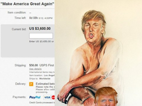 Donald Trump has a large penis, apparently… and it's on sale