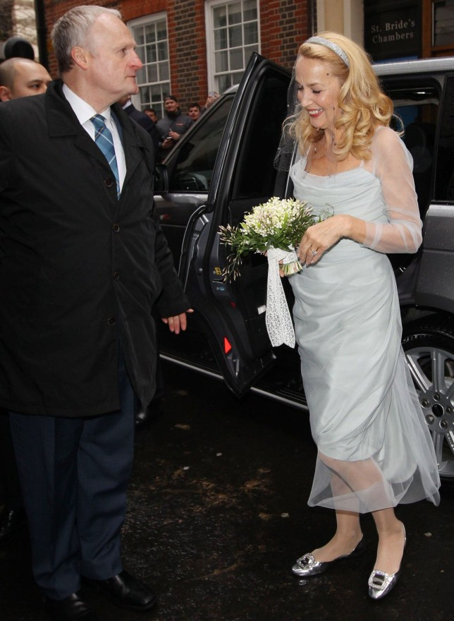 Mandatory Credit: Photo by Beretta/Sims/REX/Shutterstock (5609771u) Jerry Hall Wedding of Rupert Murdoch and Jerry Hall, St Brides, London, Britain - 05 Mar 2016