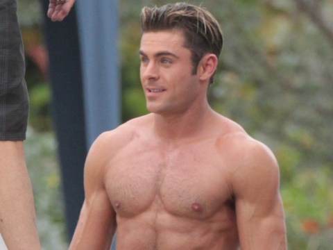 Zac Efron looks beefier than ever on the Baywatch remake set