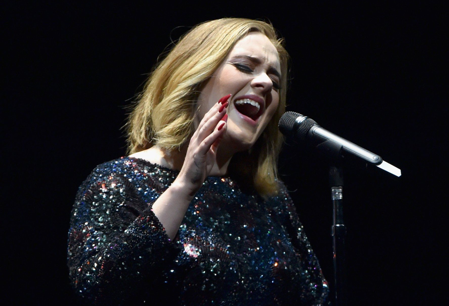 Adele has a strong message for those moaning about her headlining Glastonbury