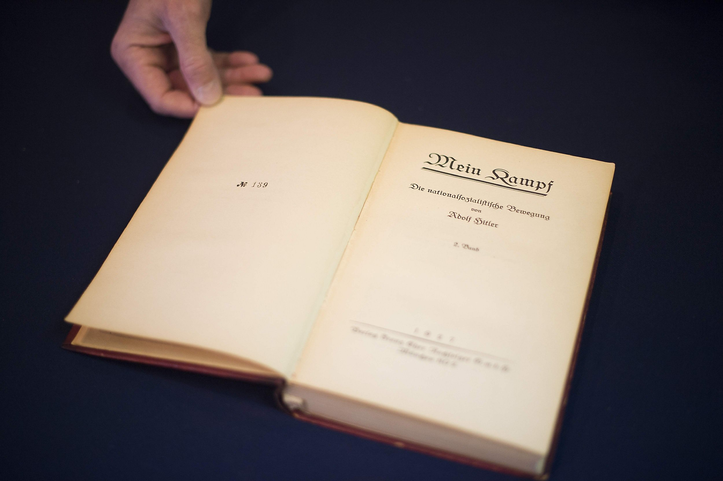 Adolf Hitler's copy of Mein Kampf sells for £14,273