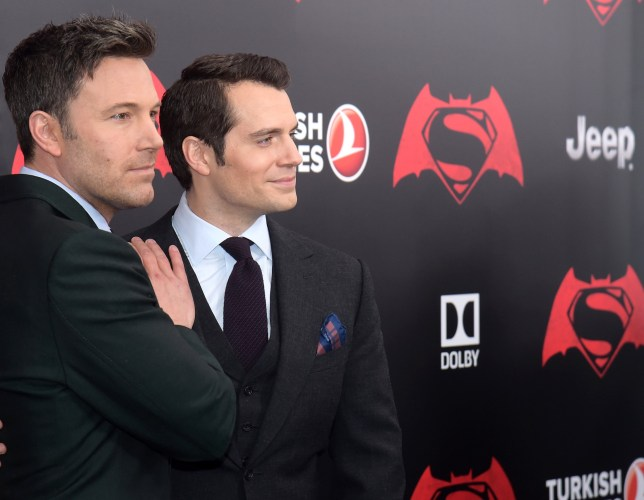 "Ben Affleck, left, and Henry Cavill attend the premiere of ""Batman v Superman: Dawn of Justice"" at Radio City Music Hall on Sunday, March, 20, 2016, in New York. (Photo by Charles Sykes/Invision/AP)"