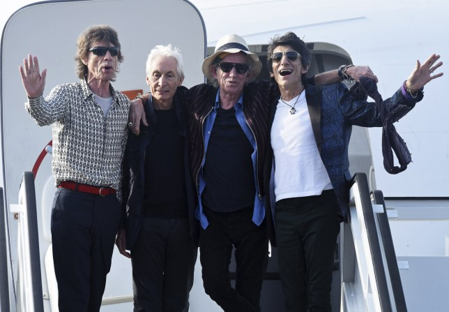 HAVANA, CUBA - MARCH 24: The Rolling Stones arrive for their concert in Havana at Jose Marti International Airport on March 24, 2016 in Havana, Cuba. (Photo by Dave J Hogan/Getty Images)