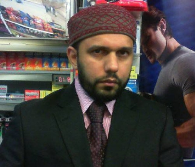 """Collect of Asad Shah who was stabbed to death outside his Glasgow newsagents only hours after posting a Happy Easter message on social media. See SWNS story SWMUSLIM; A popular Muslim shopkeeper has been stabbed to death in the street - just four hours after wishing """"a very happy Easter to my beloved Christian nation"""". Peace-loving Asad Shah, 40, was set upon with a knife and had his head stamped on in a shocking attack outside his Glasgow newsagents shop just after 9pm last night (Thurs). The appalling attack came just hours after deeply religious Mr Shah, who was keen to reach out from the Muslim community to Christian neighbours, posted heartfelt Easter messages on social media. And the messages revealed that he was today (Friday) due to be hosting a Google hangout with Christian friends about the importance of Easter."""