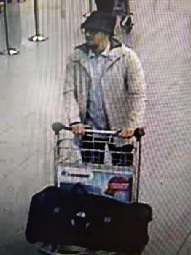 epa05231545 (FILE) A file handout photograph provided by Belgian Federal Police shows a CCTV grab of a suspect in the Zaventem airport attack in Brussels, Belgium, 22 March 2016. The man has been identified as Faycal Cheffou, and has also been charged with participation in a terrorist group and attempted terrorist killings. Faycal Cheffou, Belgian film maker and journalist, is one of six people who were arrested by police in Belgium following raids which took place on 24 March. According to reports, Faycal Cheffou was identified by a taxi driver who allegedly drove the three bombers to Brussels Airport before the explosions. At least 31 people were killed with hundreds injured in terror attacks in Brussels on 22 March. Islamic State (IS) claimed responsibility for the attacks. EPA/BELGIAN FEDERAL POLICE / HANDOUT EPA/BELGIAN FEDERAL POLICE / HANDOUT BEST QUALITY AVAILABLE HANDOUT EDITORIAL USE ONLY/NO SALES HANDOUT EDITORIAL USE ONLY/NO SALES