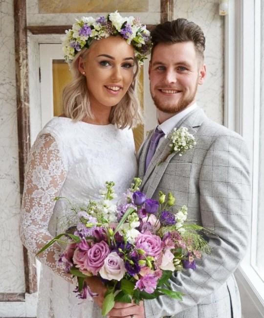 Bride Connie Bell Wears Gran's Wedding Dress Down The