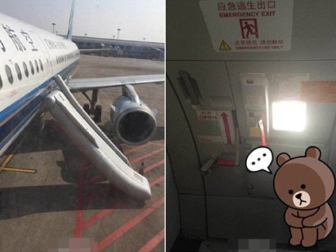 First-time flyer opens emergency exit thinking it was toilet