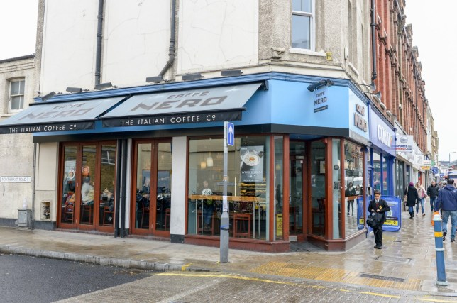 Caffe Nero wire brush lodged in throat