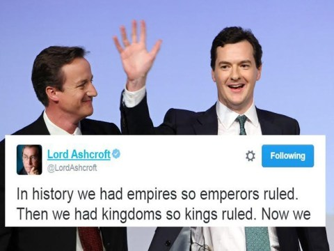 What could Lord Ashcroft have meant by this cryptic tweet?