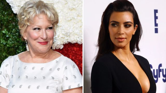 Bette Midler swipes back at Kim Kardashian over THAT nude selfie: 'She can't take a joke'