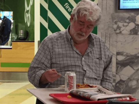 Who's that? Oh, it's just George Lucas eating noodles in a food court in Adelaide…